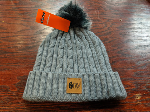 Heather Grey Pom Pom Toque