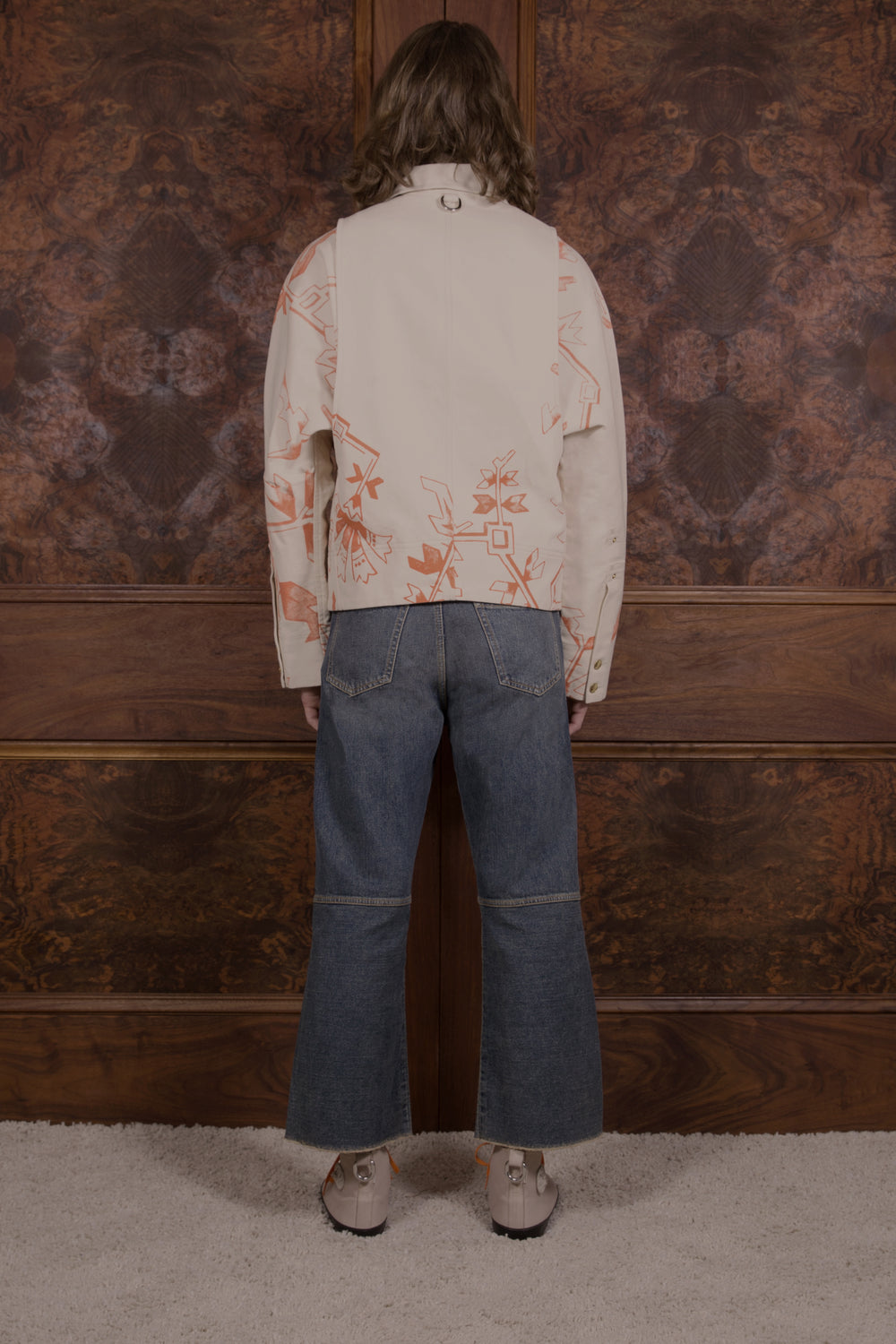 Otto Denim Off White/Plate Print