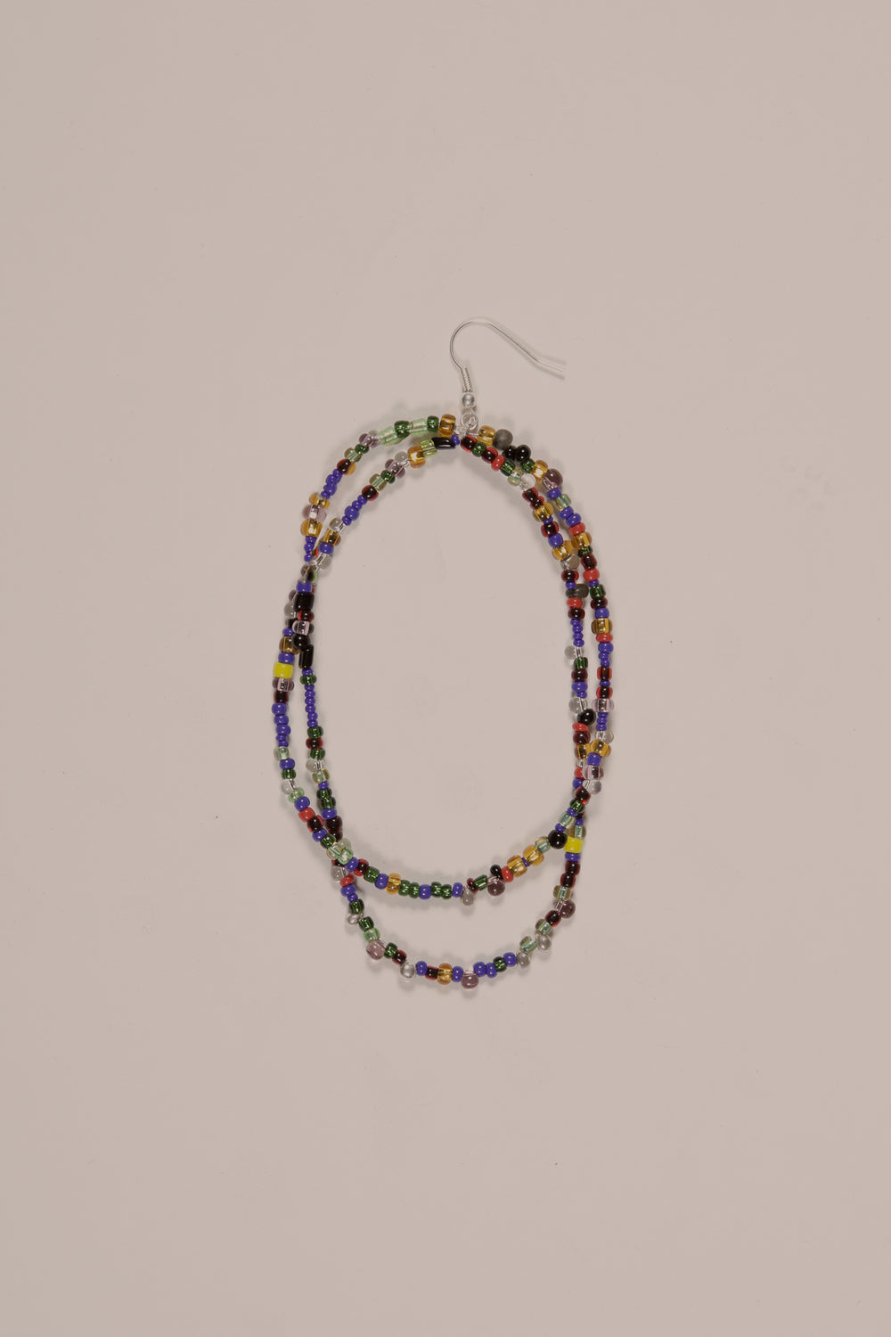 Glass Double Beaded Earring