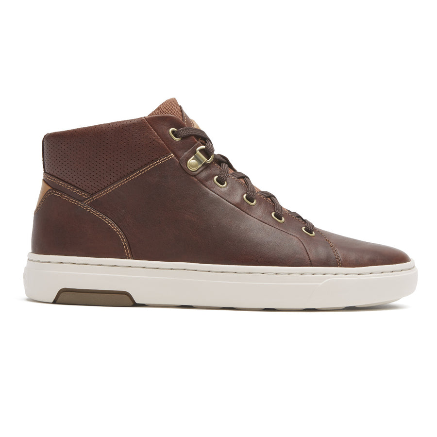 Let's Walk Mens Cupsole Dark Tan Mid