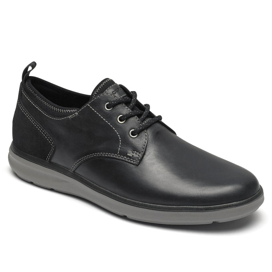 Zaden Plain Toe Ox Black Shoe