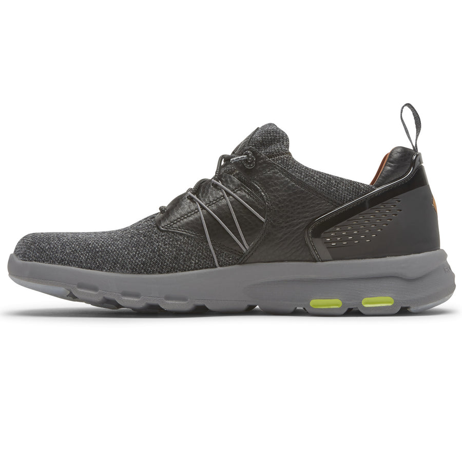 Let's Walk Mens Mesh Black Wool Bungee