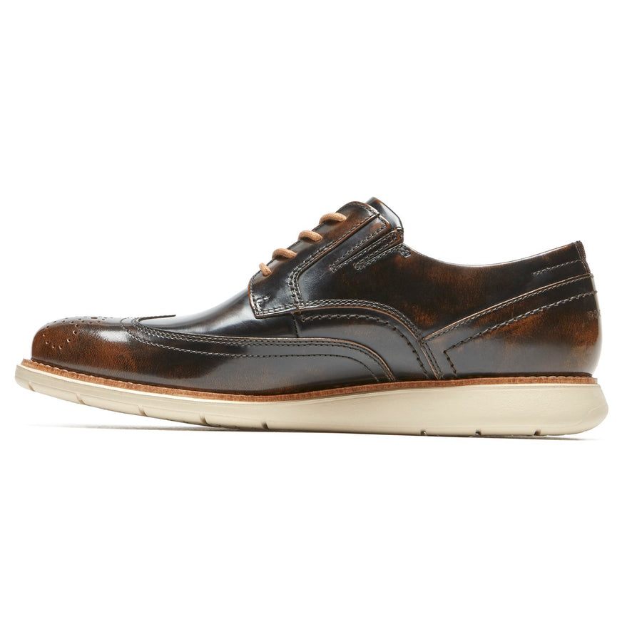 Total Motion Sport Dress Dark Brown Box Leather Wingtip