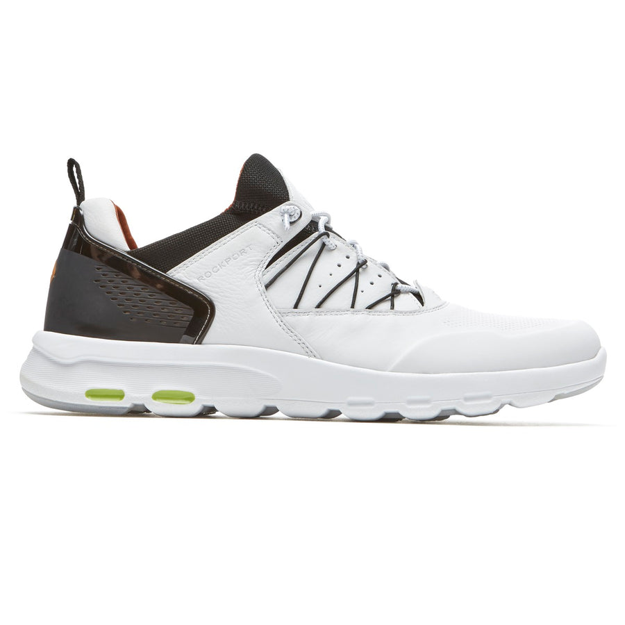 Lets Walk Men's White Leather Bungee