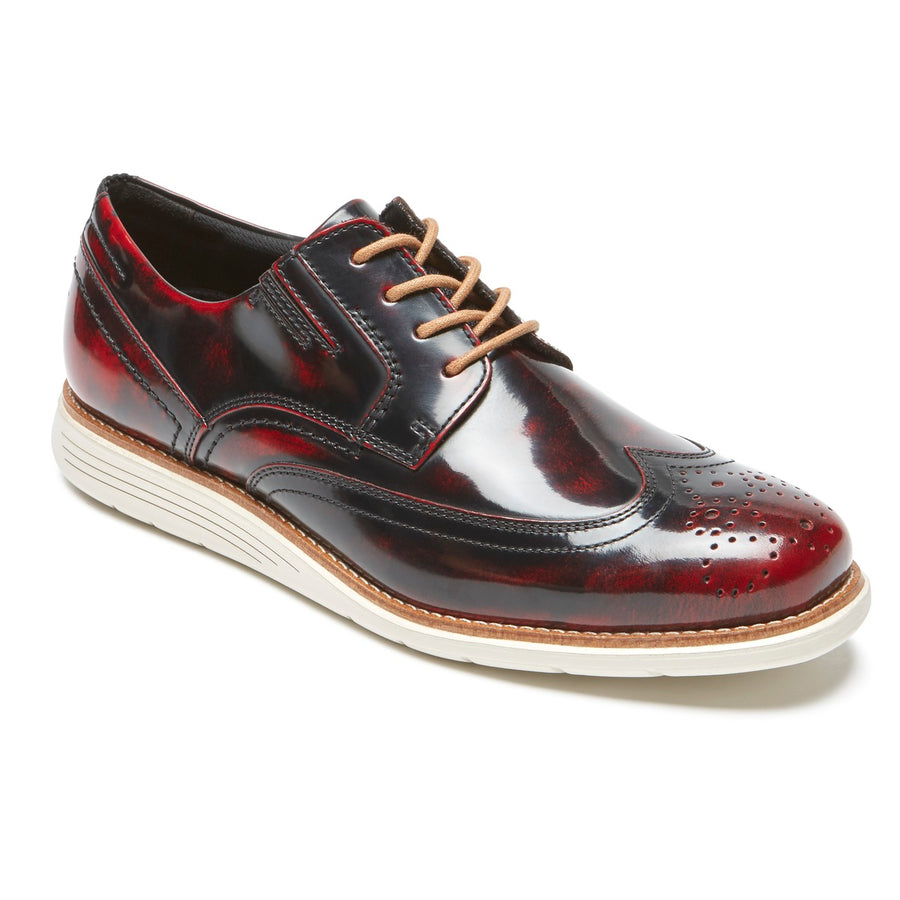 Total Motion Sport Dress Black Cherry Leather Wingtip