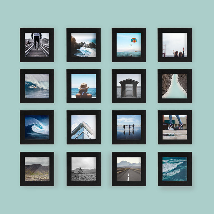 16-Pack, Black, 4x4 Photo Frame