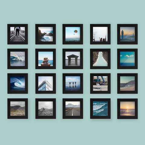 20-Pack, Black, 4x4 Photo Frame