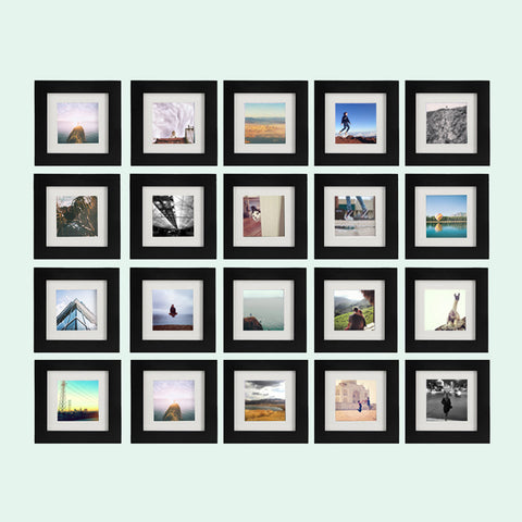20-Pack, Black, 6x6 Photo Frame (4x4 Matted)