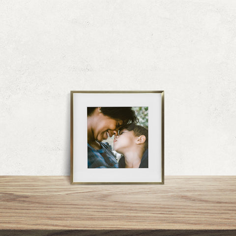 NEW Single, Gold Metal, 11x11 Photo Frame (8x8 Matted)