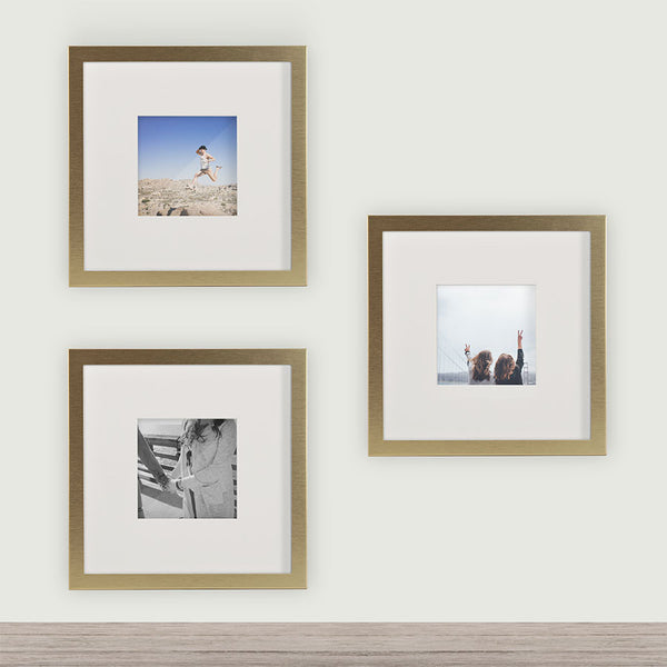 4x4 Or 8x8 Brushed Metal Square Instagram Photo Frame