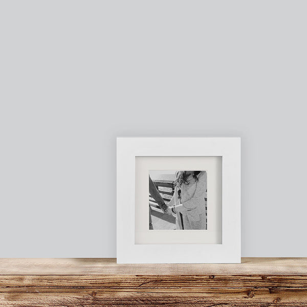 Single White 6x6 Photo Frame 4x4 Matted Tiny Mighty