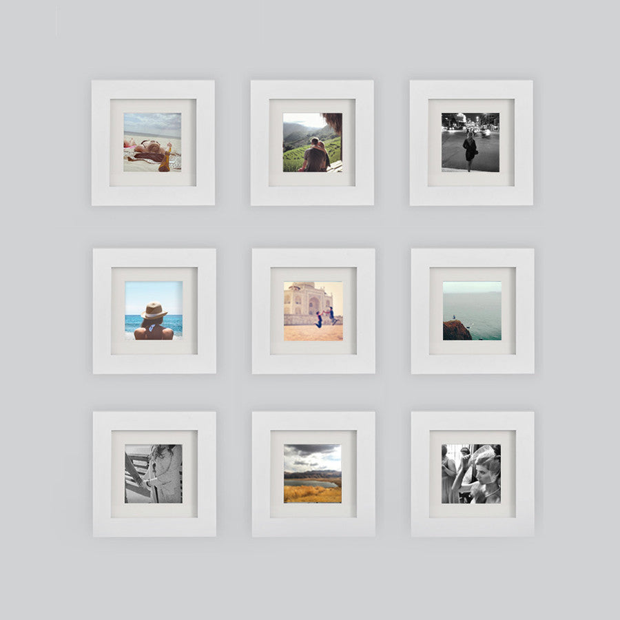 9-Pack, White, 6x6 Photo Frame (4x4 Matted)