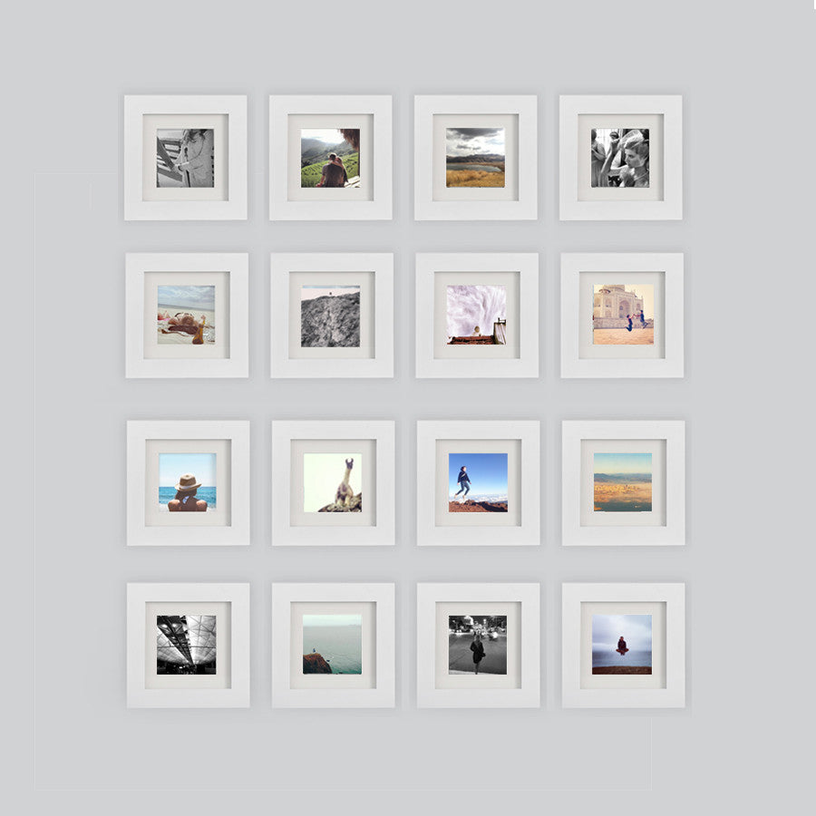 16 pack white 6x6 photo frame 4x4 matted