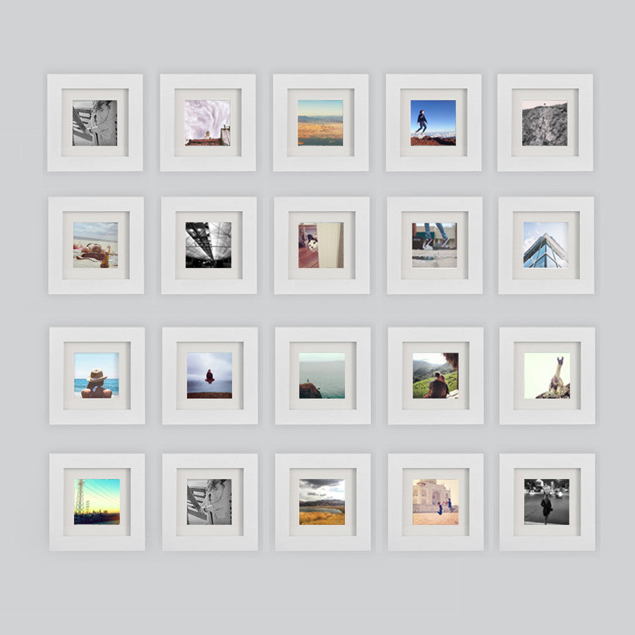 20 pack white 6x6 photo frame 4x4 matted - White Square Frames