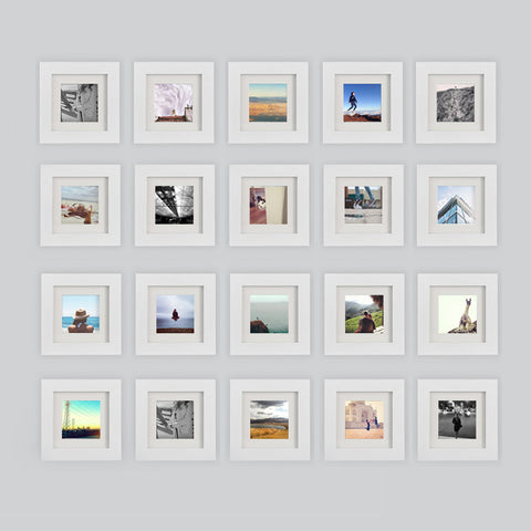 20-Pack, White, 6x6 Photo Frame (4x4 Matted)