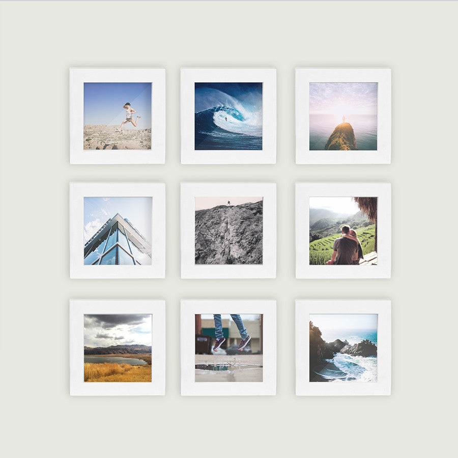 9 pack white 4x4 photo frame
