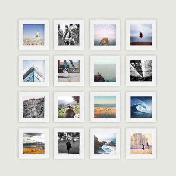 16 Pack White 4x4 Photo Frame Tiny Mighty Frames