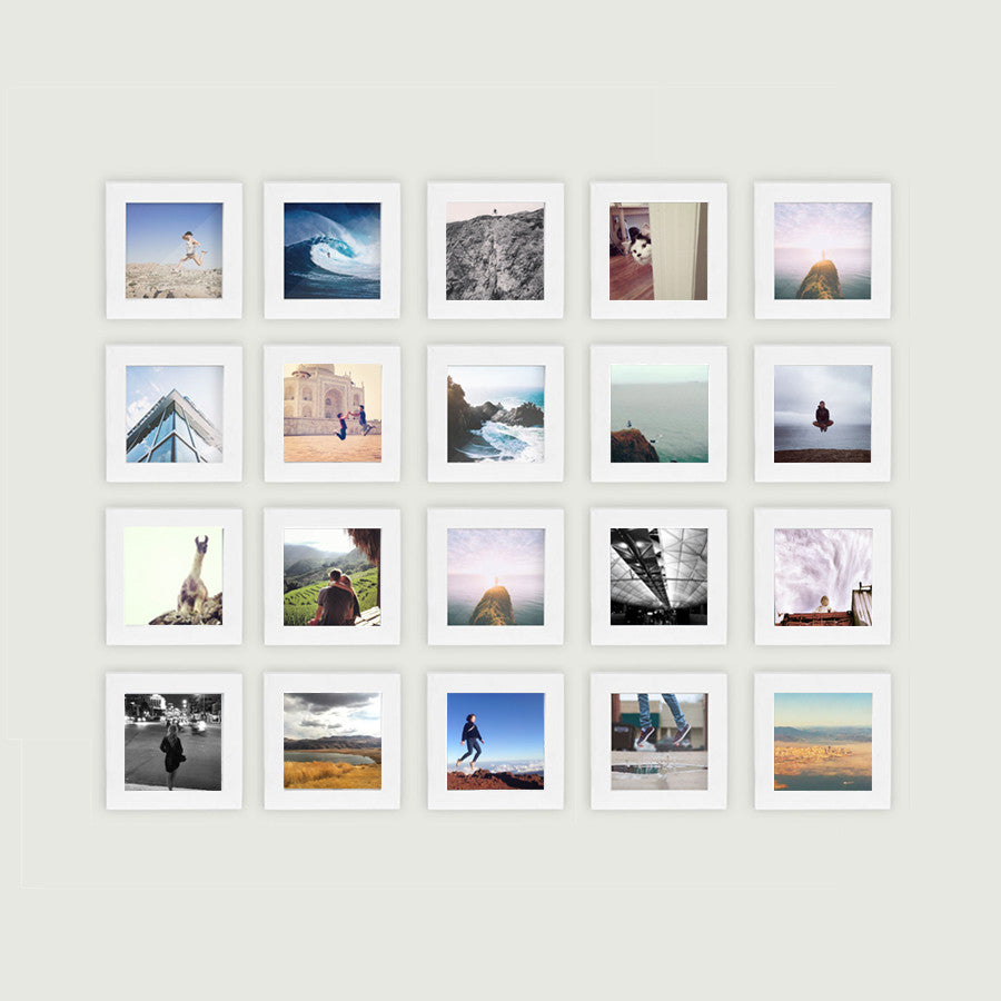 20-Pack, White, 4x4 Photo Frame – Tiny Mighty Frames