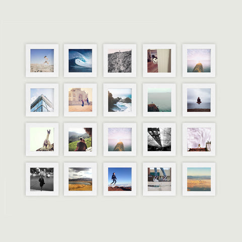 20-Pack, White, 4x4 Photo Frame