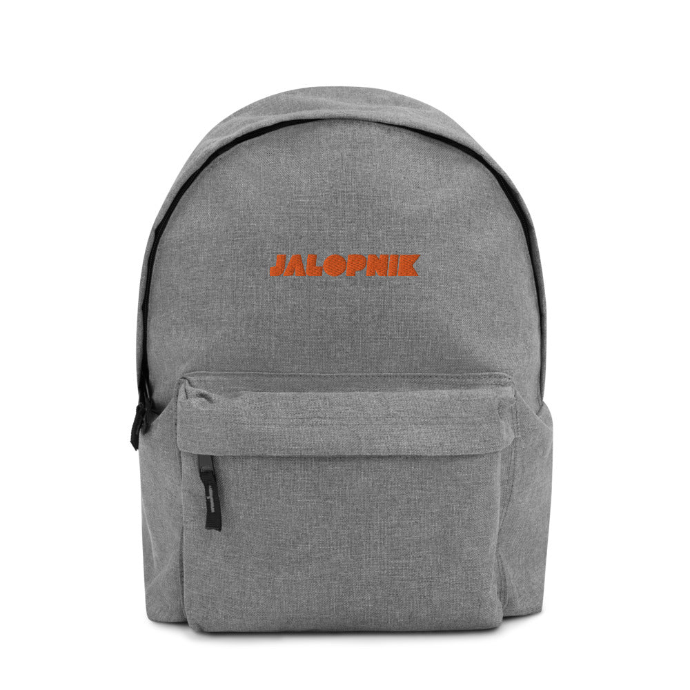 Jalopnik Logo Embroidered Backpack