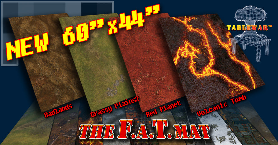 "New F.A.T. Mat Sizes - 60x44"" & 30x44"""