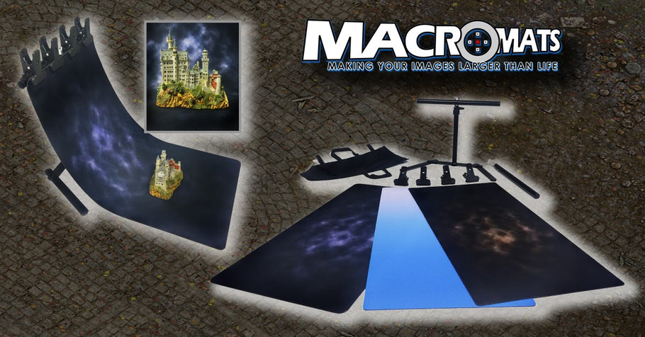 'Warm' & 'Cool' MacroMat Sun Burst effect off-center to allow you to position it perfectly