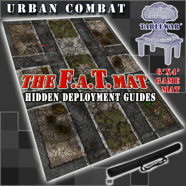 Hidden deployment guides for 40K within TABLEWAR F.A.T. Mats