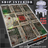 "Ship Interior 40K Battle Mat 6x4' 72x48"" Hidden Deployment Lines"
