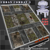"Urban Combat 3 40K Battle Mat 6x4' 72x48"" Hidden Deployment Lines"