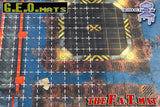 "GEO Mat Square 1"" Grid White transparent gaming mat overall"