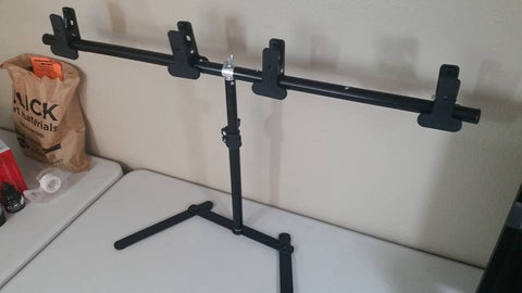 "MacroMat Horizontal Bar extended to 31"" to allow for larger photography backdrops"