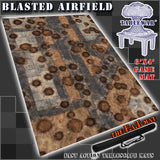 "Blasted Airfield 40K Battle Mat 6x4' 72x48"" Hidden Deployment Lines"
