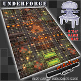 "Underforge 40K Battle Mat 6x4' 72x48"" Hidden Deployment Lines"
