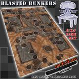 "Blasted Bunker 40K Battle Mat 6x4' 72x48"" Hidden Deployment Lines"