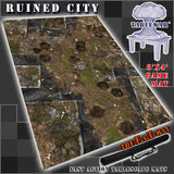 "Ruined City 40K Battle Mat 6x4' 72x48"" Hidden Deployment Lines"