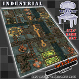 "Industrial  40K Battle Mat 6x4' 72x48"" Hidden Deployment Lines"