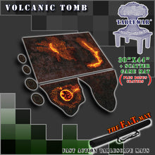 "Load image into Gallery viewer, 30x44"" 'Volcanic Tomb' + Scatter Terrain F.A.T. Mat"