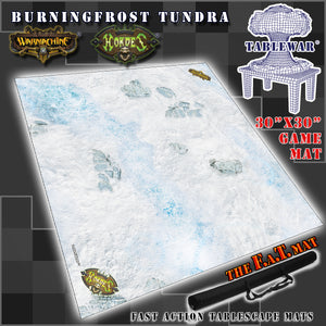 "30x30"" 'Burningfrost Tundra' Privateer Press branded F.A.T. Mat"