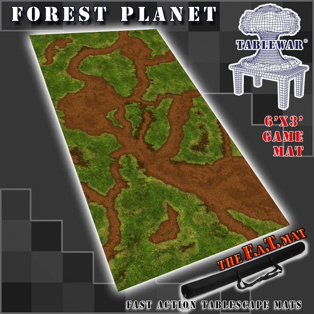 6x3 'Forest Planet' F.A.T. Mat Gaming Mat