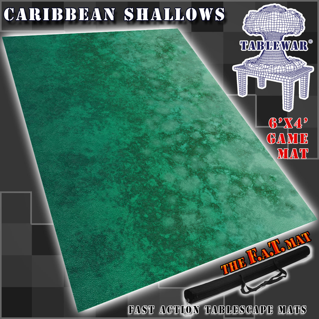 6x4 'Caribbean Shallows'  (lighter ocean)