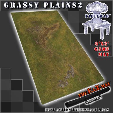 Grassy Plains Gaming Mat - Best Neoprene Battle Mat for Tabltop war gaming