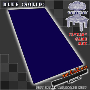 "72x30"" Solid Blue F.A.T. Mat Gaming Mat"
