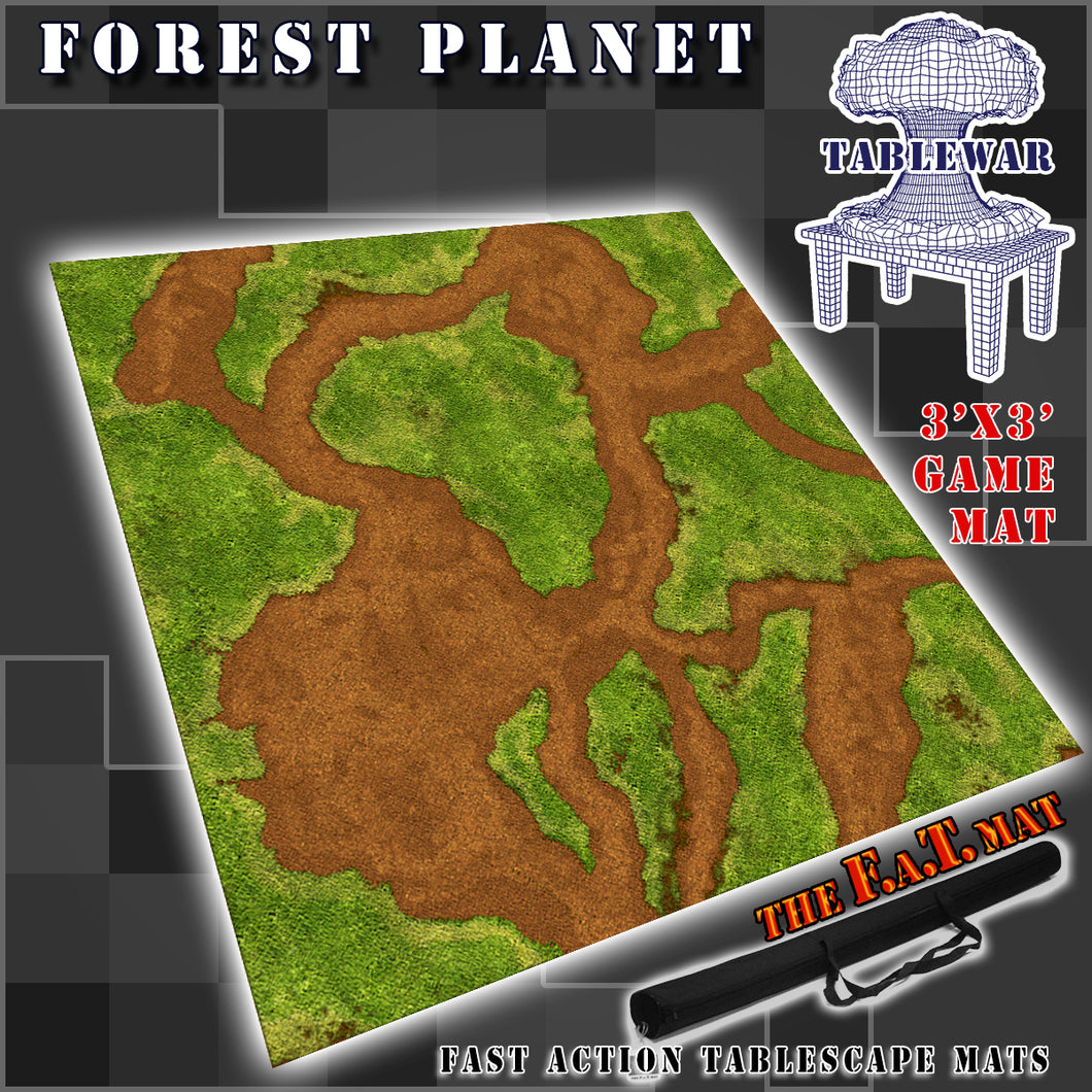 3x3 'Forest Planet' F.A.T. Mat Gaming Mat