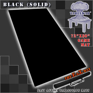 "72x30"" Solid Black F.A.T. Mat Gaming Mat"