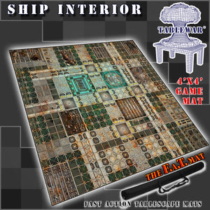 4x4 'Ship Interior' F.A.T. Mat Gaming Mat