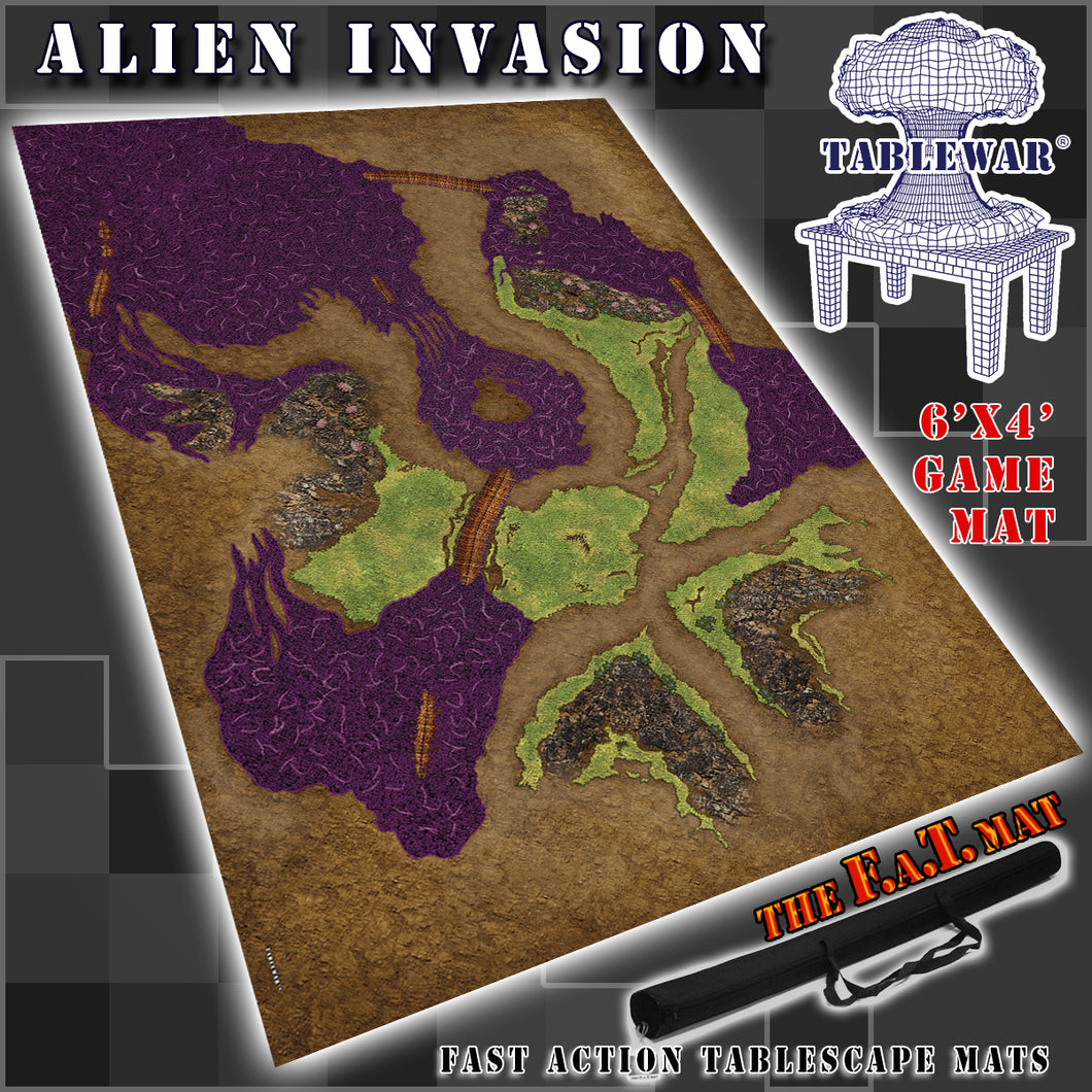 6x4 'Alien Invasion' F.A.T. Mat Gaming Mat