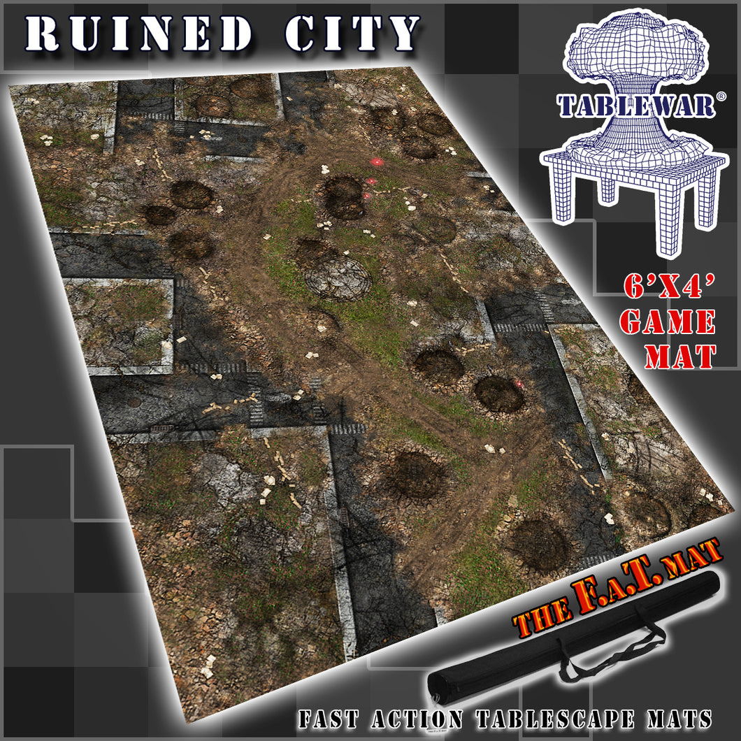 6x4 'Ruined City' F.A.T. Mat Gaming Mat