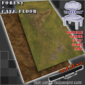 6x3' Dbl Sided 'Forest + Cave Floor' F.A.T. Mat Gaming Mat