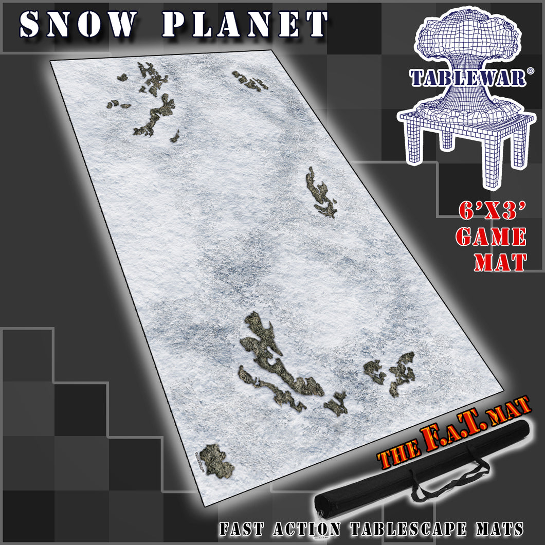 6x3 'Snow Planet' F.A.T. Mat Gaming Mat