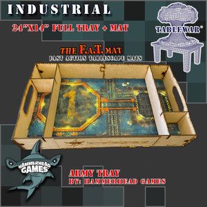 "Full Army Tray + 24x14"" Industrial F.A.T. Mat"